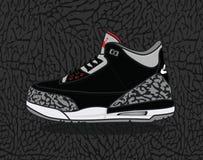 Air Jordan 3 Fotografía de archivo libre de regalías