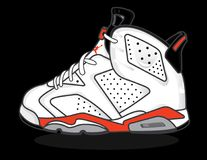Air Jordan 6 royalty free stock images