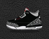 Air Jordanie 3 Illustration Stock