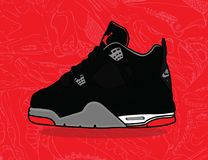 Air Jordanie 4 Illustration Stock