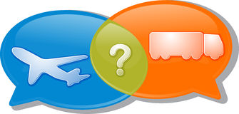 Air land transport conversation negotiation argument Illustratio Stock Photos