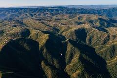 Air Landscape Hills Valleys  Royalty Free Stock Photos