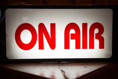 On Air light box signs in front of radio station Stock Photography
