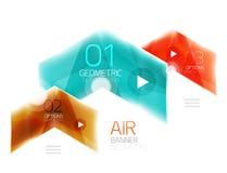 Air light glossy design of arrows. Web info box or ui menu element Stock Photos