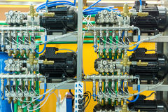 Air line, compressors for pneumatic instrument Royalty Free Stock Photos