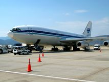 Air liner in airport Royalty Free Stock Images