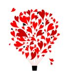 Air love concept, balloon with hearts for your Stock Image