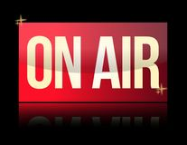 ON AIR luminous sign Royalty Free Stock Images