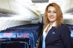 air lyxfnaskstewardessen Arkivfoto