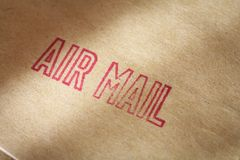 Air Mail. Stamp Stock Image
