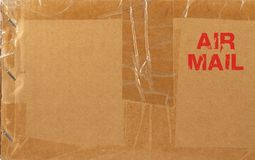 Air mail. Package royalty free stock photo