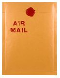 Air mail. Envelope, with air mail note on it stock image