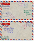 Air mail background royalty free stock photos