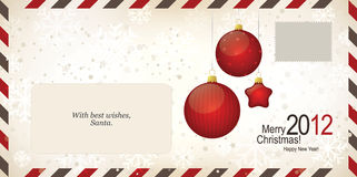 Air mail envelope. Christmas design. C6-C5 format Stock Images
