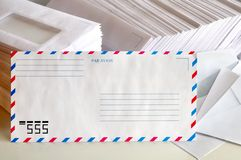 Air mail envelope Royalty Free Stock Photos