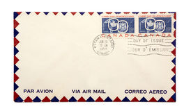 Air mail envelope Royalty Free Stock Images