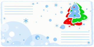 Air mail envelope. Christmas design Royalty Free Stock Photos