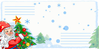 Air mail envelope, illustration. Air mail envelope, Christmas design Stock Photography