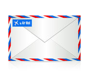 By air mail envelope illustration design. Over a white background Royalty Free Stock Images
