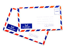 Air mail envelope isolated. On white background Stock Photography