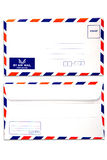Air mail envelope isolated  white background Royalty Free Stock Image