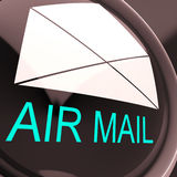 Air Mail Envelope Shows International Delivery. Air Mail Envelope Showing International Delivery By Airplane Royalty Free Stock Images