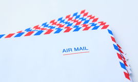 Air mail letter envelope isolated Royalty Free Stock Photos