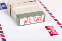 Air mail letter stock photography