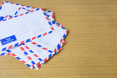 Air mail letter. Royalty Free Stock Photography