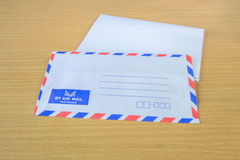 Air mail letter. Royalty Free Stock Photo