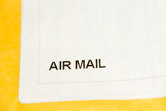 Air Mail Packing Royalty Free Stock Images