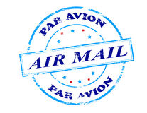 Air mail par avion. Rubber stamp with text air mail par avion inside,  illustration Stock Photography