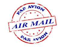 Air mail par avion. Rubber stamp with text air mail par avion inside,  illustration Royalty Free Stock Photo