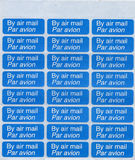 By air mail - par avion stamp sheet. By air mail - par avion (international mail tag) stamp sheet Stock Image