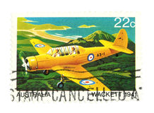 Air mail post stamp Royalty Free Stock Image