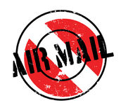 Air Mail rubber stamp Royalty Free Stock Photography