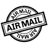 Air mail rubber stamp Royalty Free Stock Photos