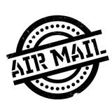 Air Mail rubber stamp Royalty Free Stock Image