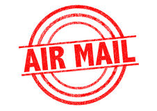 AIR MAIL Rubber Stamp Stock Images