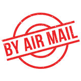 By Air Mail ruuber stamp Royalty Free Stock Photography