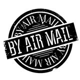 By Air Mail ruuber stamp. By Air Mail rubber stamp. Grunge design with dust scratches. Effects can be easily removed for a clean, crisp look. Color is easily Stock Image