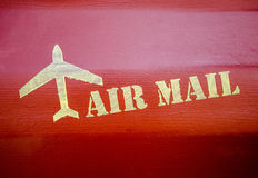 Air mail sign Stock Photography