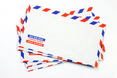 Air mail stack Royalty Free Stock Images