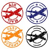 Air mail stamp Royalty Free Stock Photography