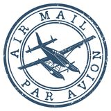 Air mail stamp. Air mail grunge stamp Royalty Free Stock Image