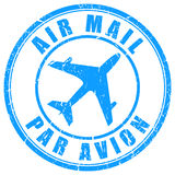 Air mail stamp Royalty Free Stock Photo