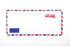 Air mail stamped on the envelope Royalty Free Stock Photos