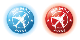 Air mail stamps Royalty Free Stock Photography