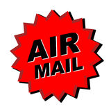 Air mail sticker stock image