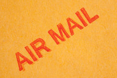 Air Mail Text Royalty Free Stock Image